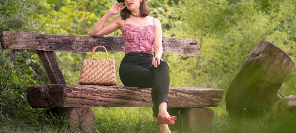 Ein Tag auf dem Land im Karo-Top von Collectif Clothing