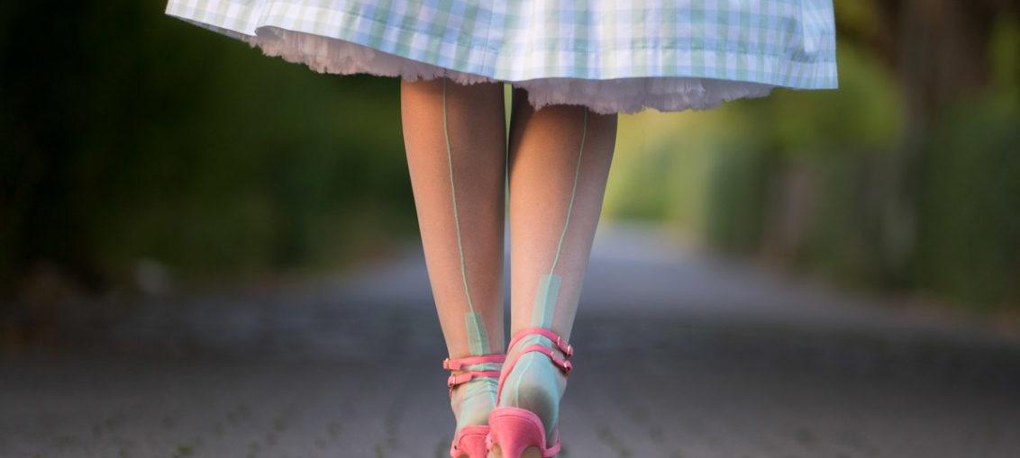 """Kühle Farben für heiße Tage: Die Secrets in Lace Spanish Heel Strümpfe in """"Mint"""""""