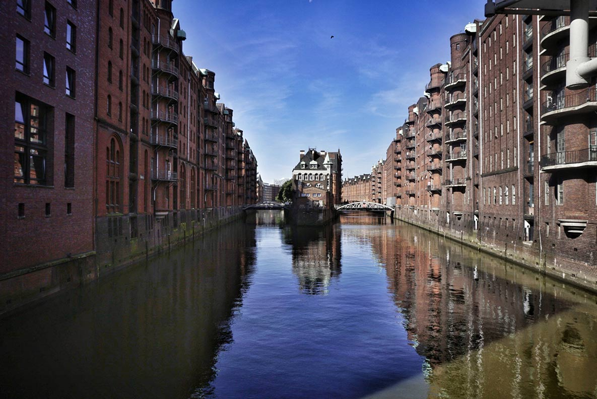 Die berühmte Speicherstadt im Herzen Hamburgs