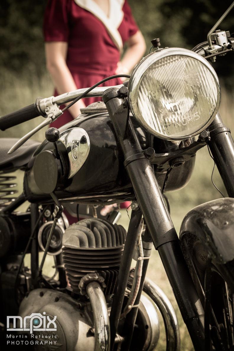 Ein Motorrad aus den 50ern