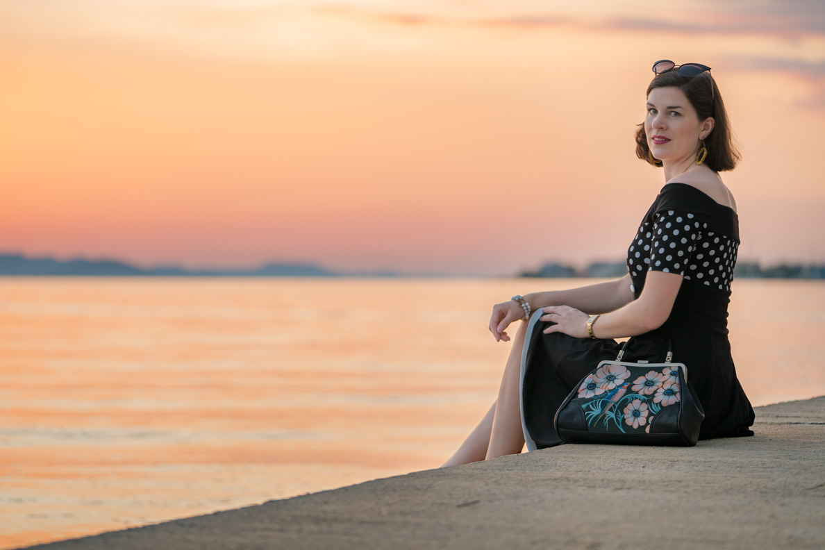 """RetroCat mit dem maritimen Kleid """"Penny"""" in Kroatien"""