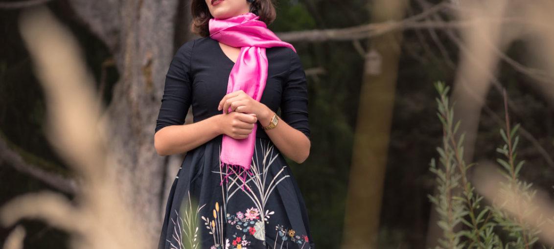 Warm, elegant und stylish: Ein Retro-Look für den Herbst mit Your Silk Shop und BlackButterfly
