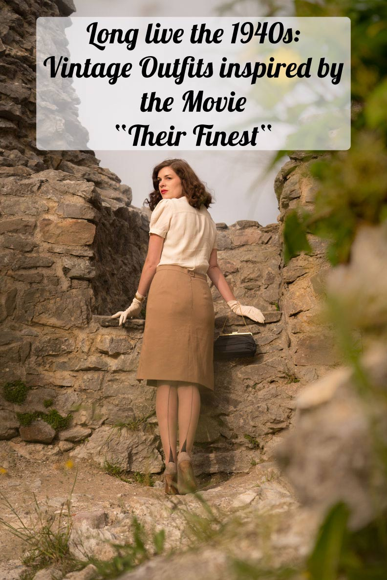 "Long live the 1940s: Vintage Outfits inspired by the Movie ""Their Finest"" styled by vintage blogger RetroCat"