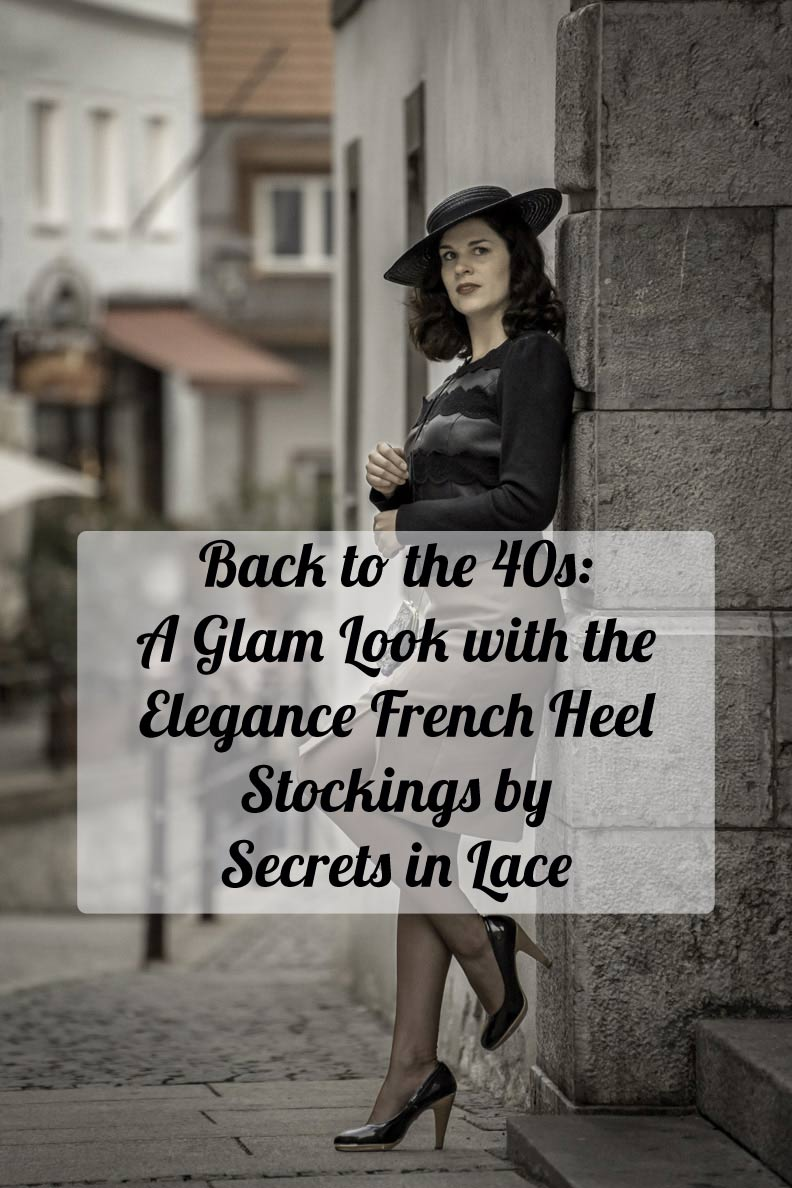 Back to the 40s: A glam look with the Elegance French Heel Stockings by Secrets in Lace - RetroCat