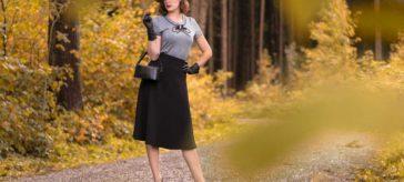 Ein Look im Stil von Agent Carter mit dem 1940s Swing Skirt von Pretty Retro
