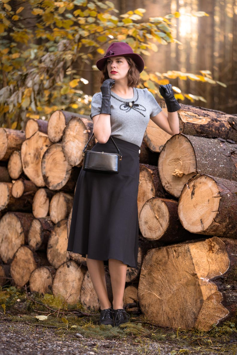 RetroCat mit dem 1940s Swing Skirt von Pretty Retro