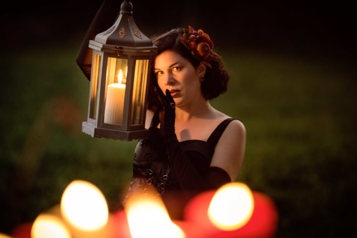 Candlelight Thriller: The Nightmare Before Christmas Gothic Velvet Dress