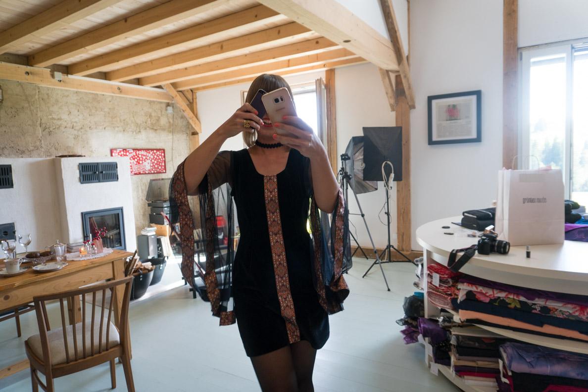 Sara von Grünten Mode beim Fotografieren