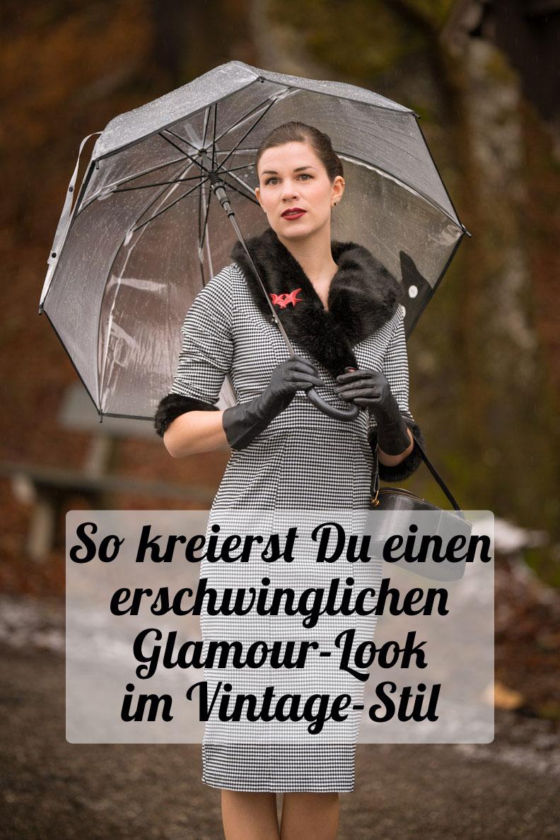 Ein erschwinglicher Glamour-Look mit Secrets in Lace und Venus Van Chic - Styling-Tipps von Vintage-Bloggerin RetroCat