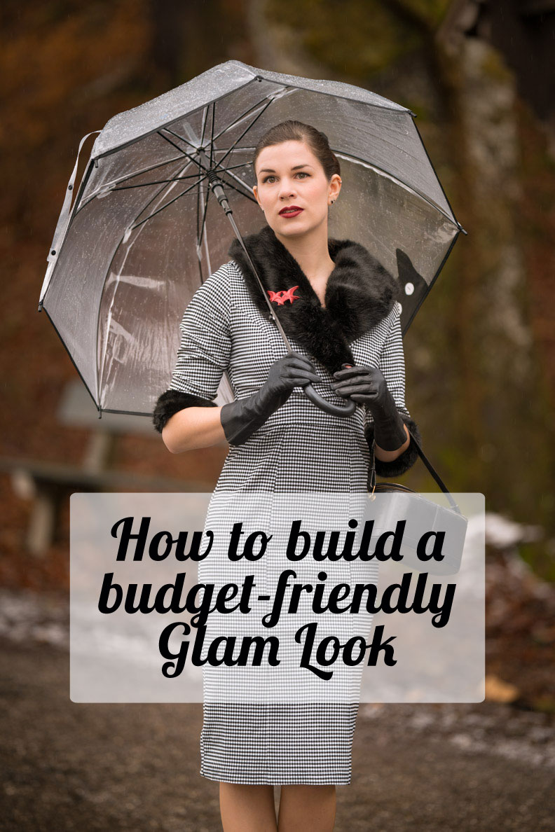 A budget-friendly Glam Look with Secrets in Lace and Venus Van Chic - styling tips by vintage blogger RetroCat