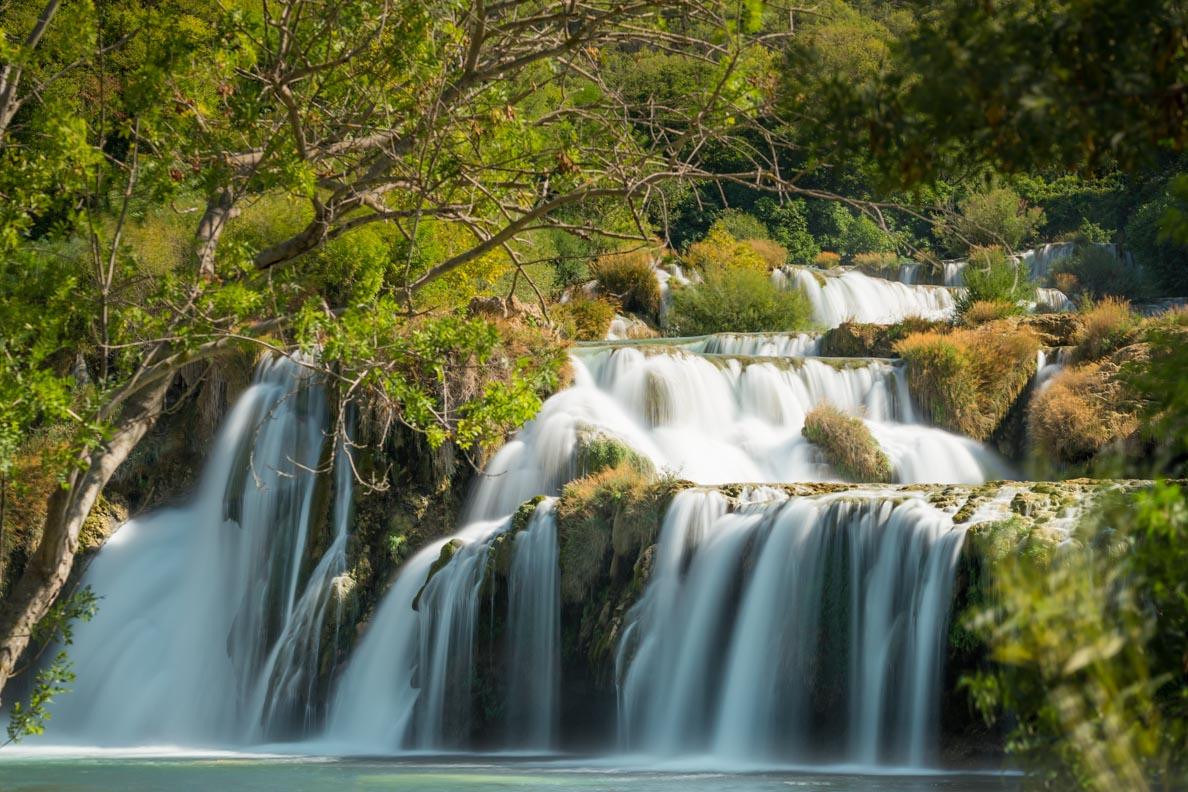 Der Skradinski bug - der größte Wasserfall im Nationalpark Krka