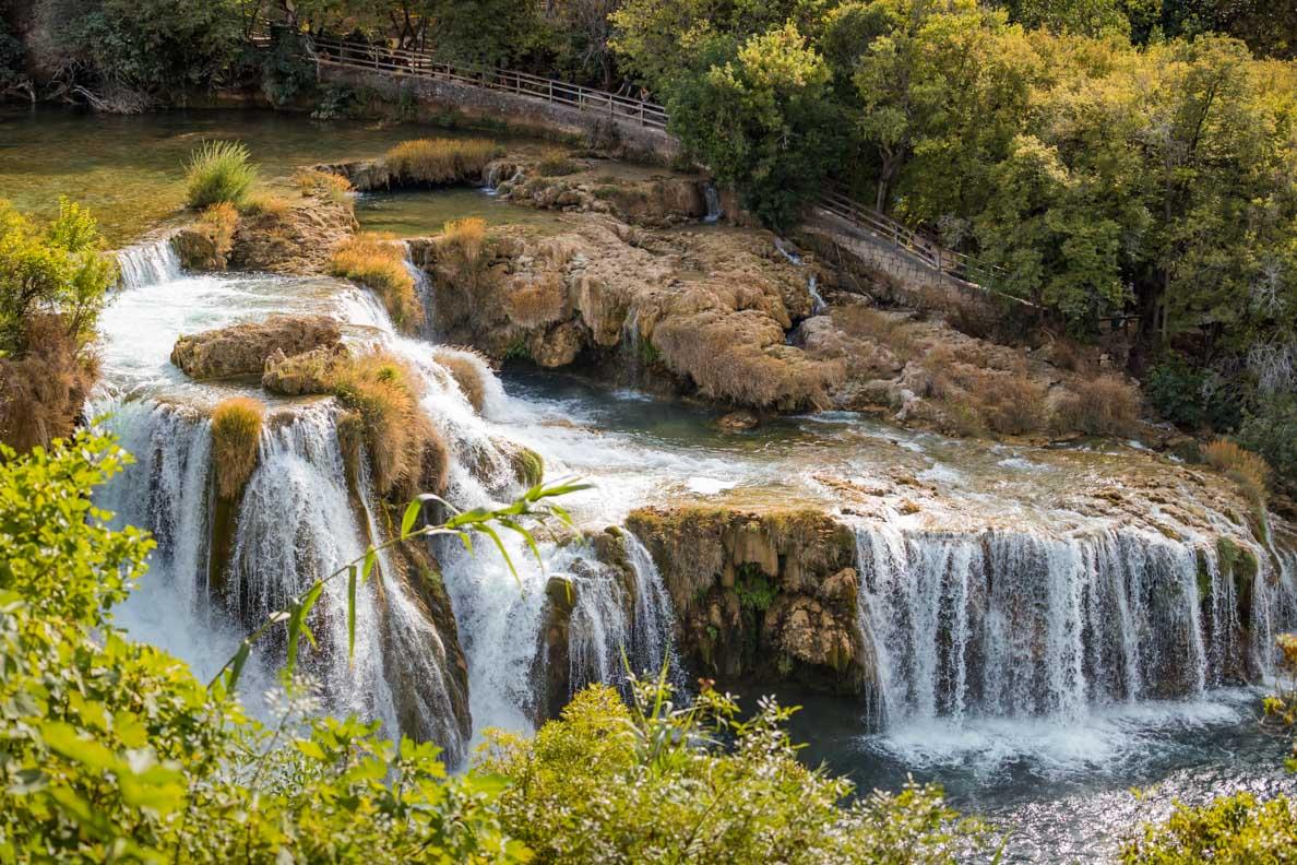 Die faszinierende Naturlandschaft im Nationalpark Krka in Kroatien