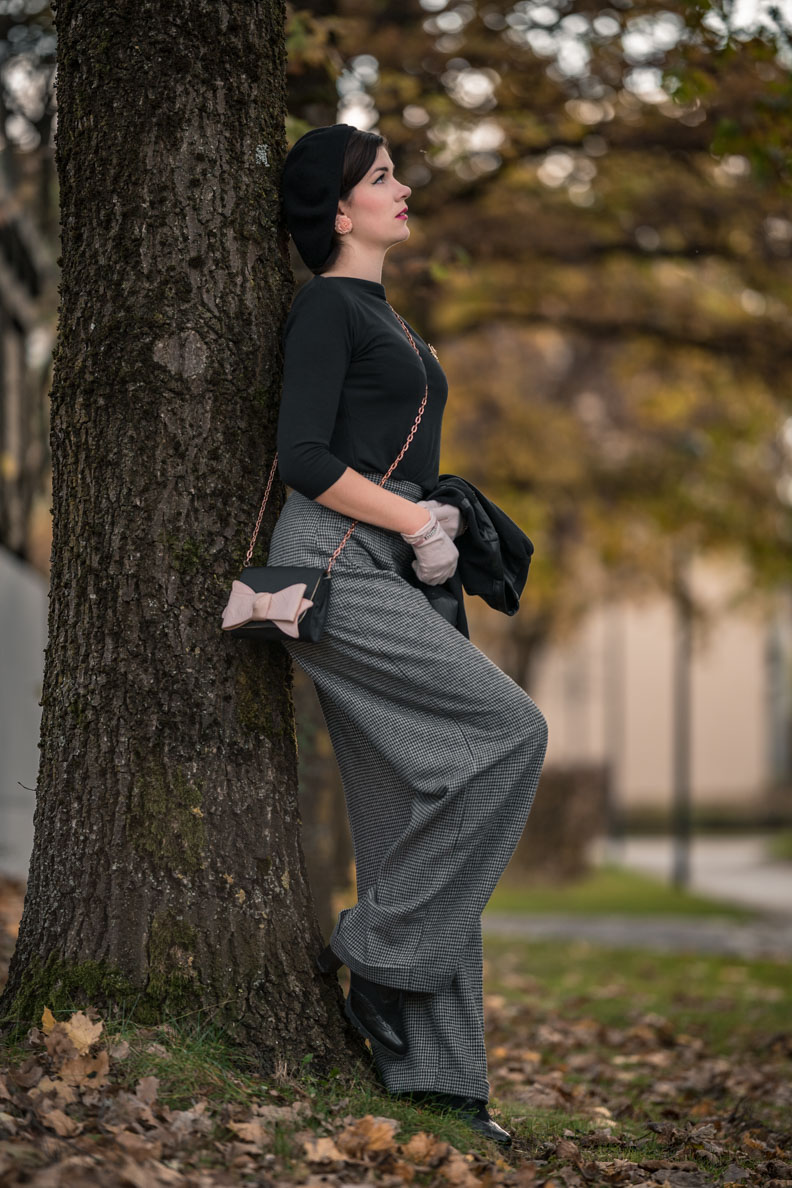 RetroCat mit den 1940s Swing Trousers von Vivien of Holloway
