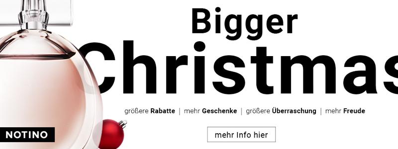 Die Bigger Christmas Aktion der Online-Parfümerie Notino