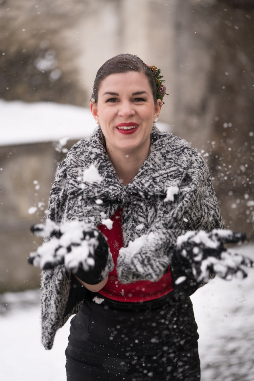 RetroCat im Schnee