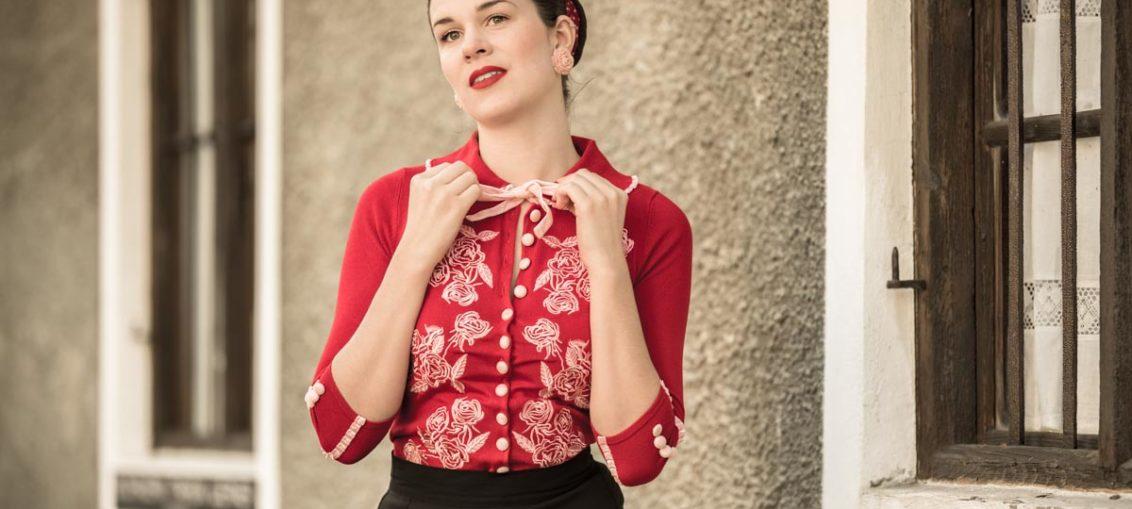 Elegant, glamourös und wunderschön: Der Dita von Teese Cardigan von Wheels and Dollbaby