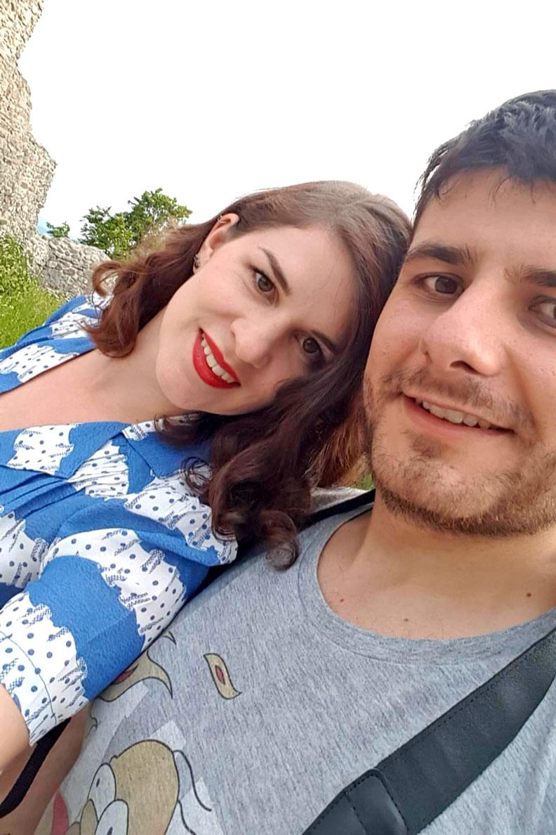 RetroCat mit ihrem Freund Martin