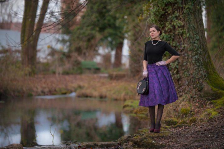 Glänzen wie die Stars mit dem Purple Star Skirt von Grünten Mode