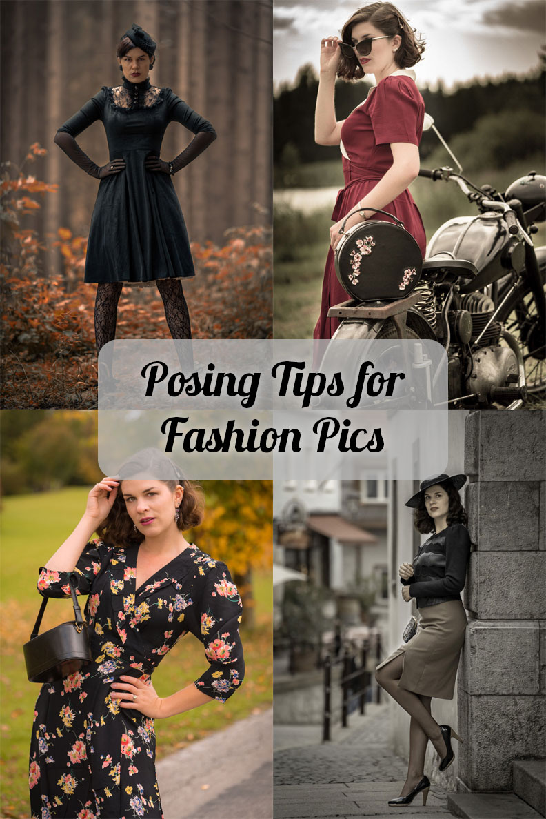 Vintage model and blogger RetroCat's best posing tips for fashion photography