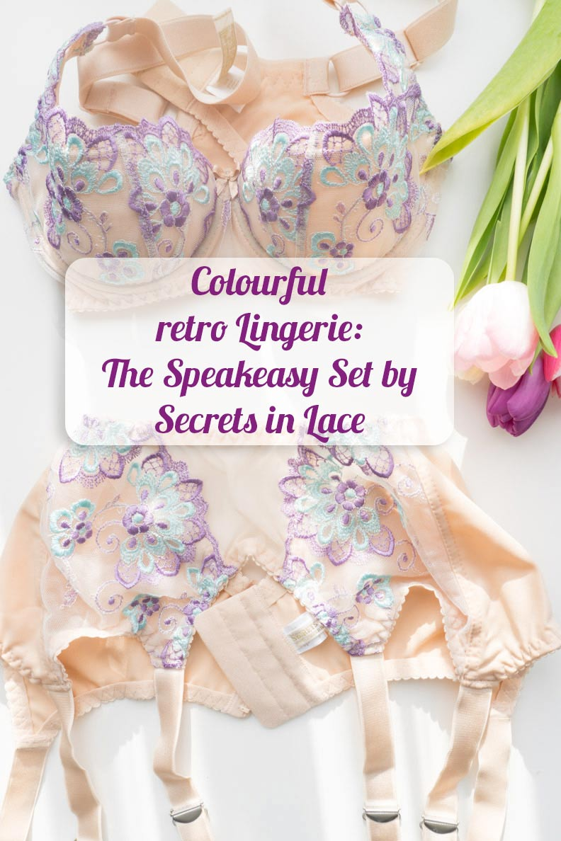 Colourful Retro Lingerie: The Speakeasy Set by Secrets in Lace