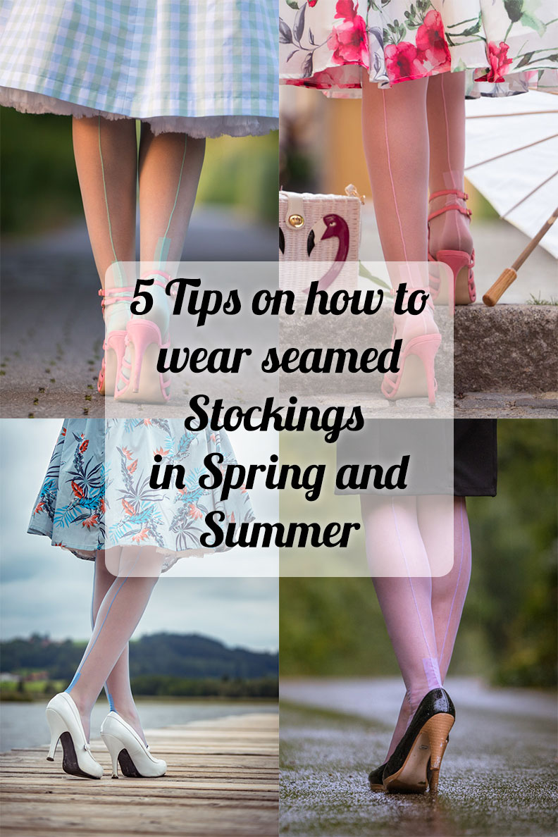 RetroCat's Tips on how to wear seamed Stockings in Spring and Summer
