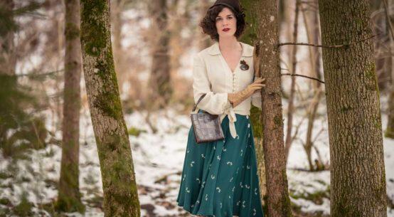 Winter ade! Ein 40er-Jahre-Outfit mit einem Swing-Rock in