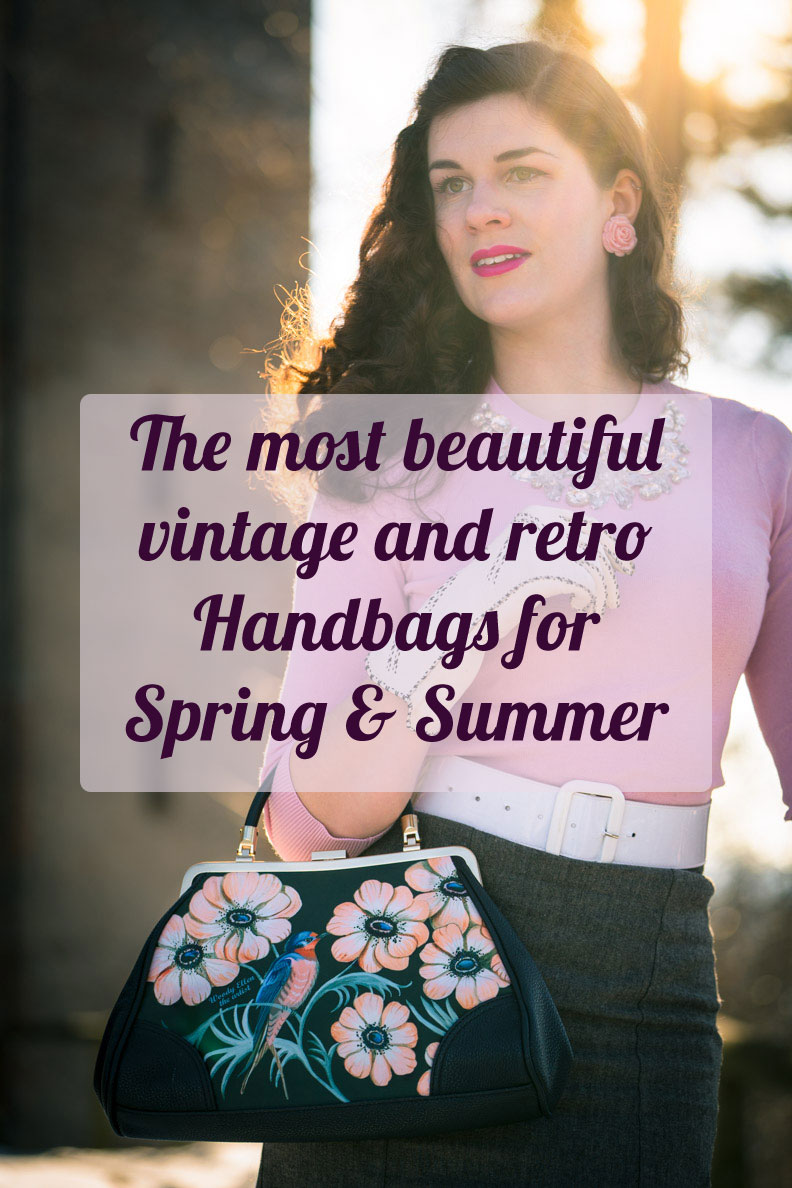 The most beautiful vintage & retro Handbags for Spring/Summer + Styling Tips