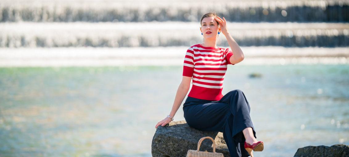 Frühling Ahoi! Der maritime Bateau Sweater von Pretty Retro