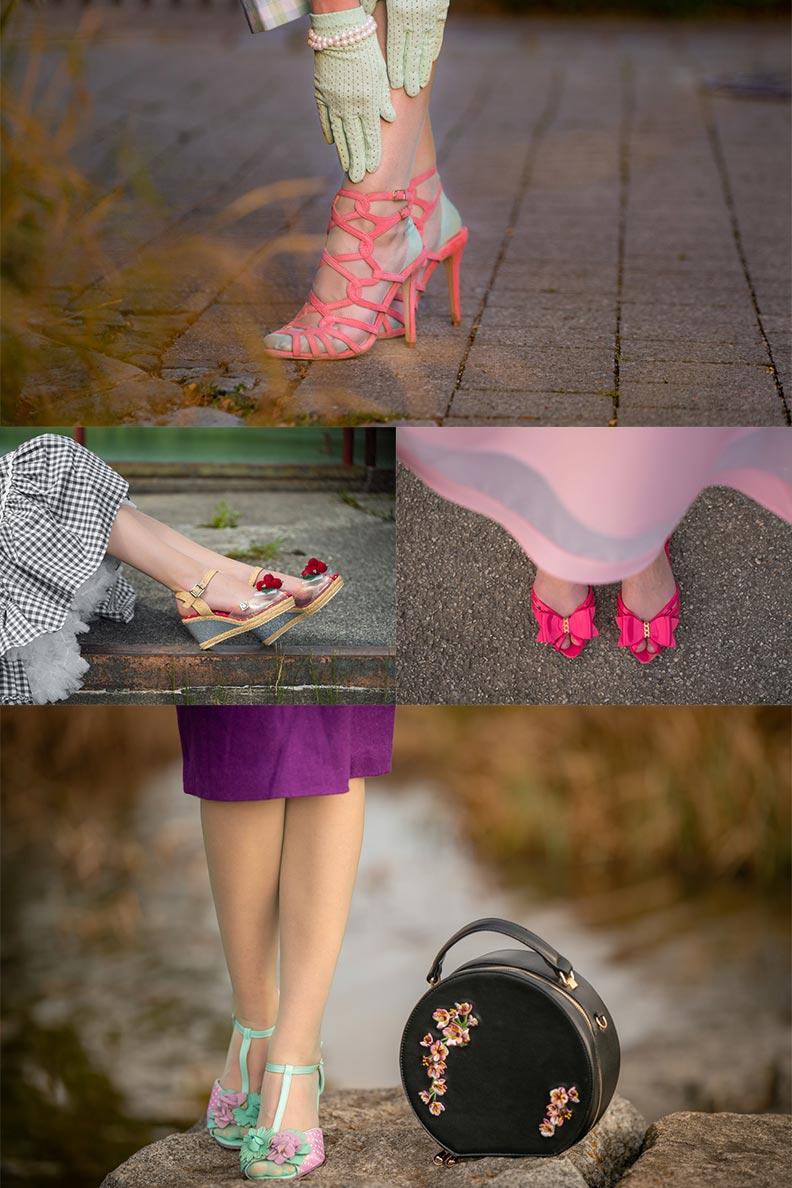 Mode-Bloggerin RetroCat mit Flats und Sandalen für den Sommer