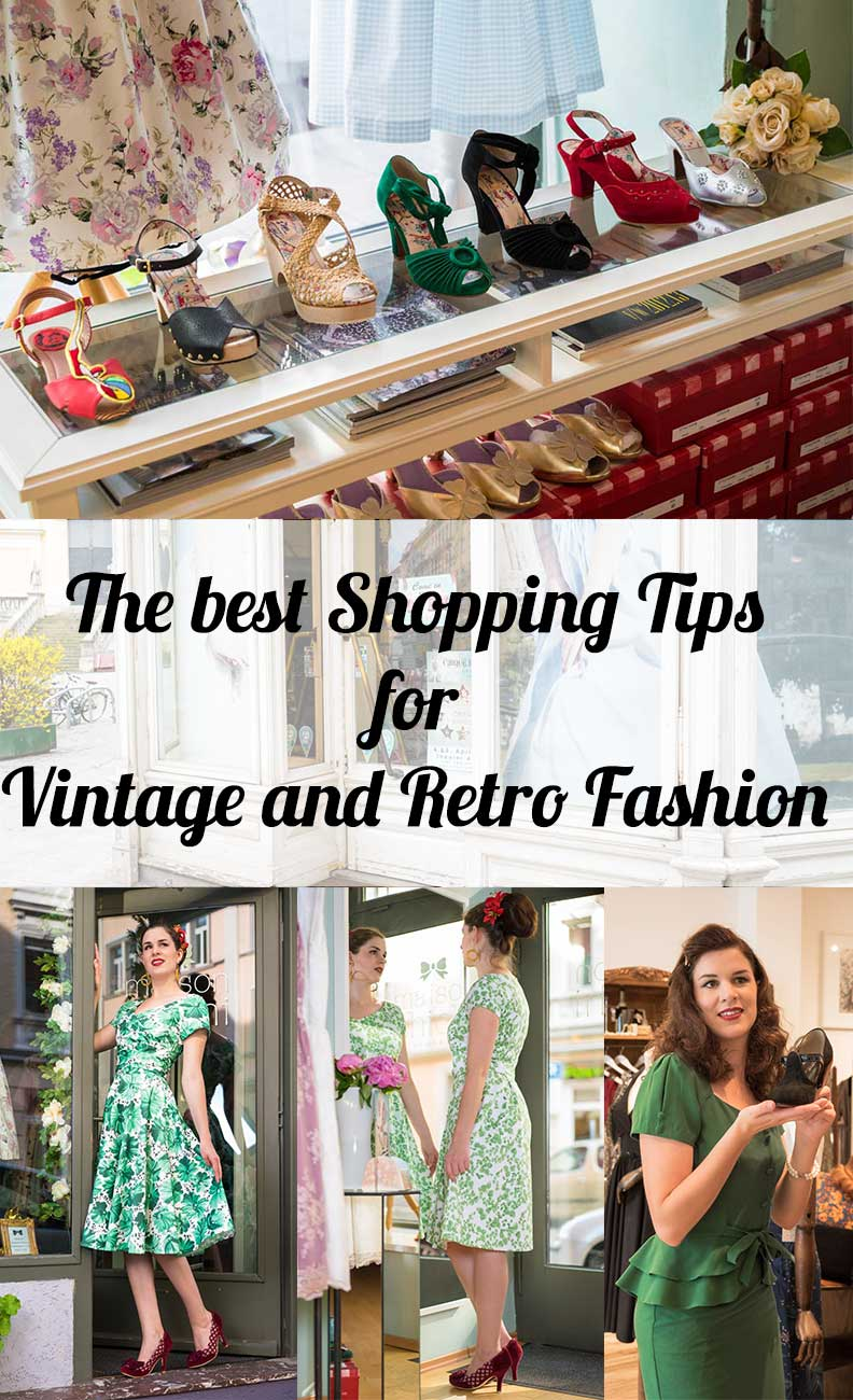 The best shopping tips for vintage and retro fashion from fashion blogger RetroCat