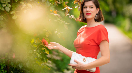 Orange is the new Black: Ein oranges Sommerkleid von Von 50'