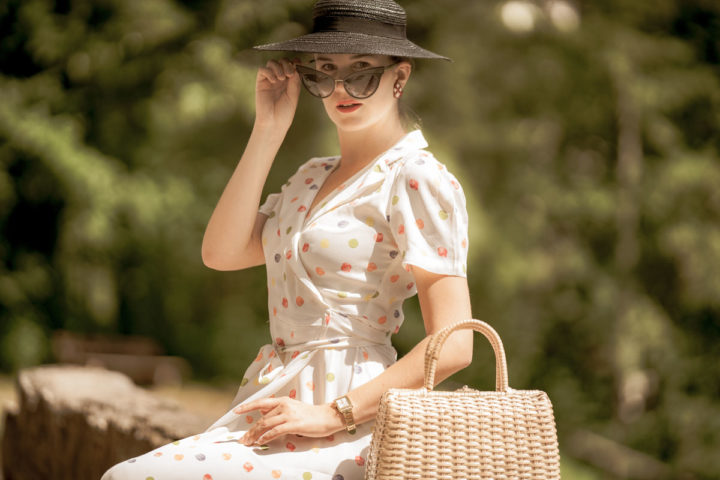 Hot Summer Days in the Peggy Wrap Dress by The Seamstress of Bloomsbury