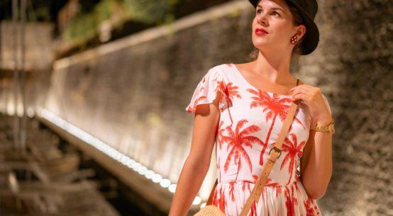 Style-Tagebuch aus Kroatien: Ein Abend in Zadar mit dem Palmen-Kleid von Grünten Mode