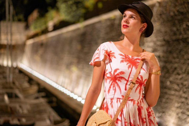 Style Diary from Croatia: One Night in Zadar with the Palm Dress by Grünten Mode