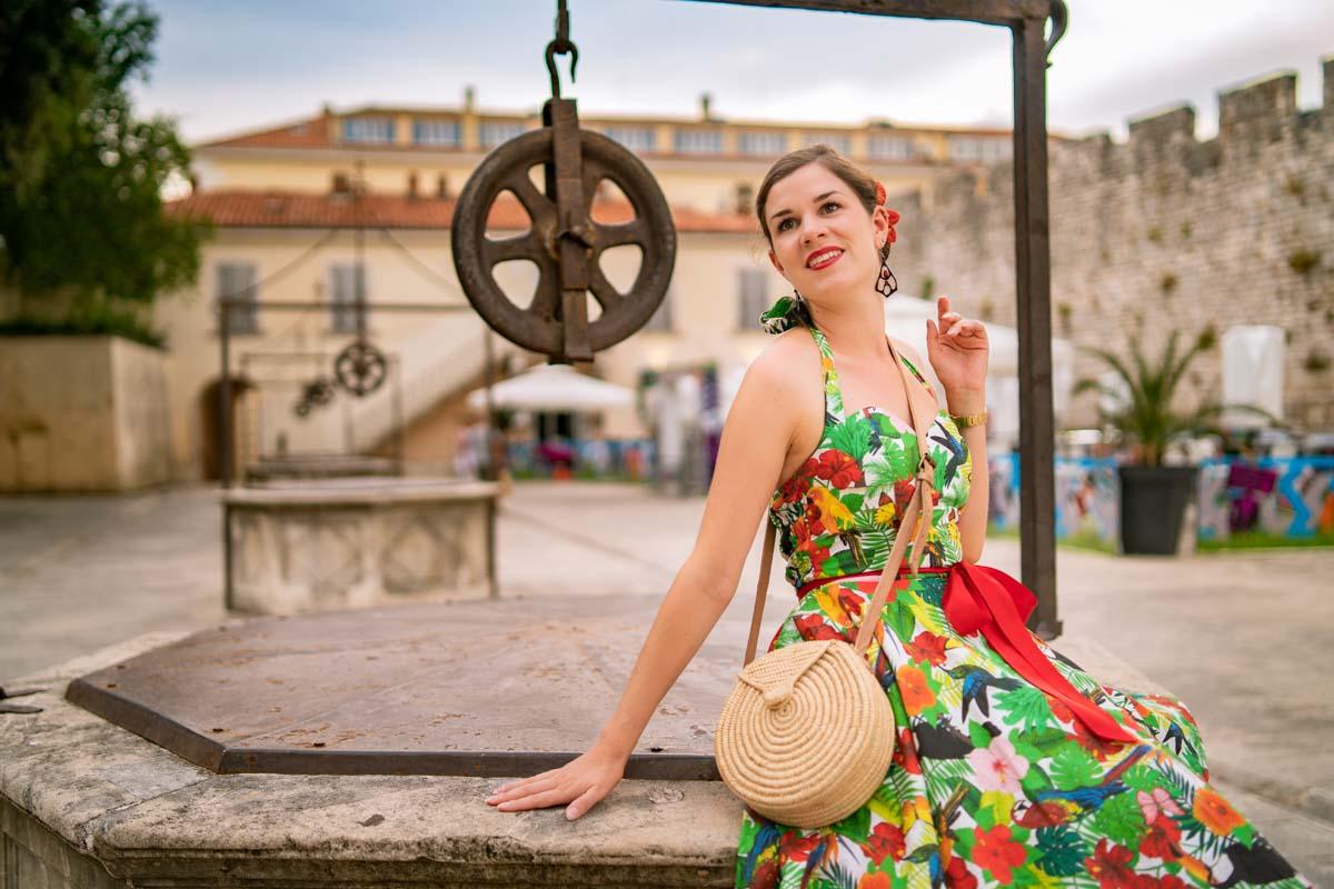 Style-Tagebuch aus Kroatien: Ein Tag in Zadar mit einem Petticoat-Sommerkleid von Belle Couture