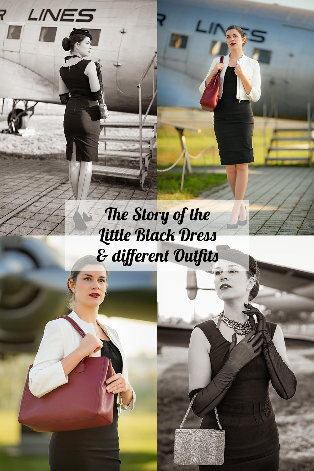 The story of the little black dress and different outfits