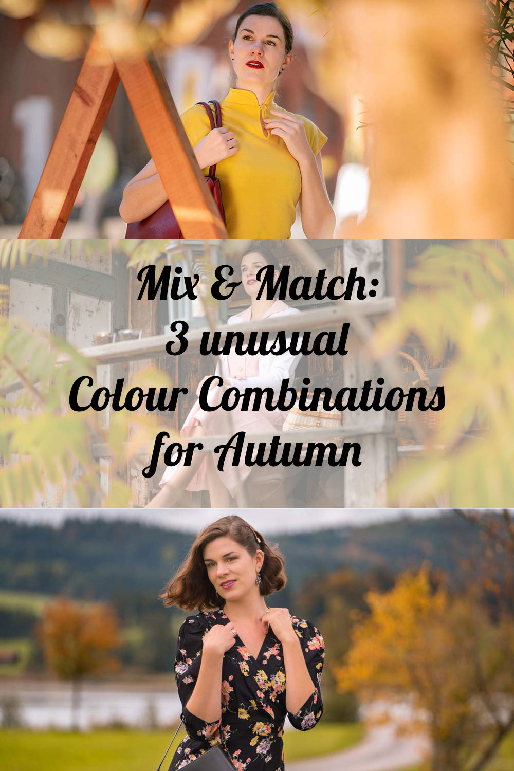 Mix & Match: 3 unusual Colour Combinations for Autumn