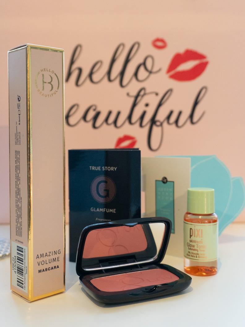 RetroCats zusammengestellte Glamour-Beauty-Box mit Kosmetikprodukten