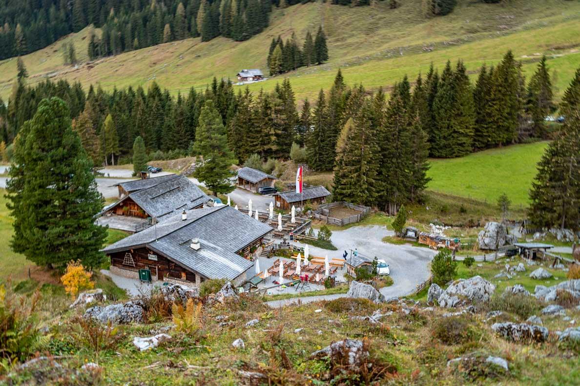 Blick auf die Oberhofalm nahe Filzmoos in den Alpen