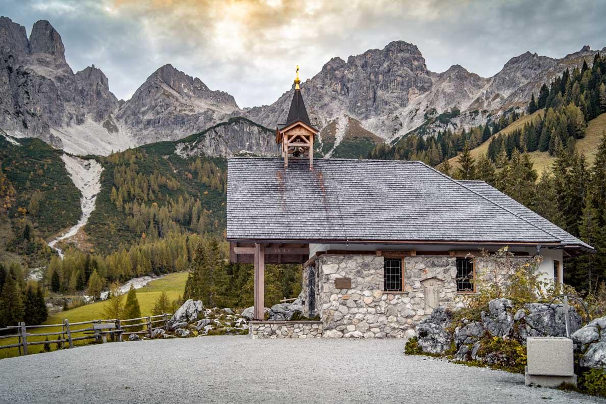 Die Maria zum Steineggl Kapelle bei der Oberhofalm nahe Filzmoos