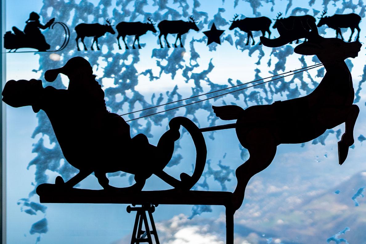 Das Büro des Weihnachtsmannes auf dem Rochers de Naye in der Schweiz