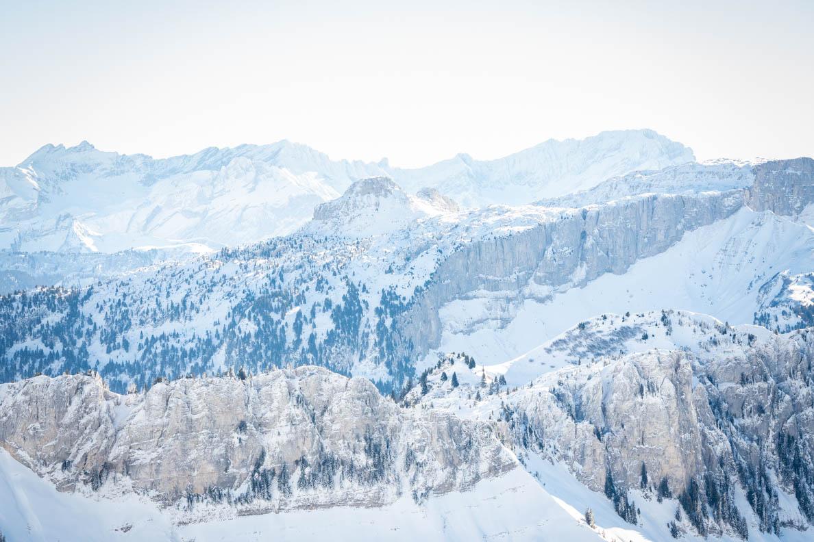 Der Blick vom Rochers de Naye in Montreux/Schweiz