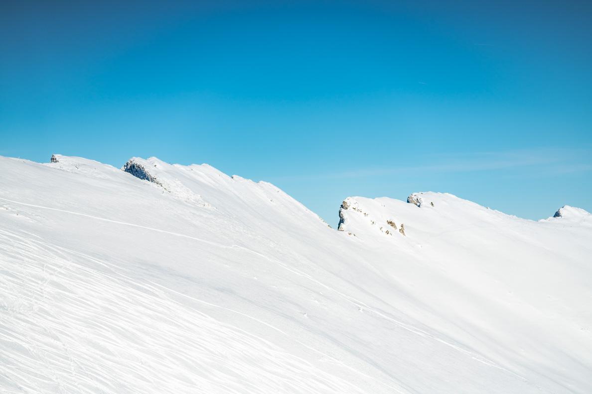 Felsen auf dem Rochers des Naye in der Schweiz