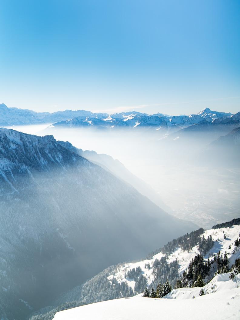 Der Rochers de Naye in der Schweiz