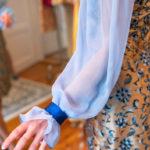 Die schönen Ärmel eines Kleides von Honór Coture