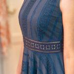 Transparente Details an einem Kleid von Honór Couture
