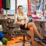 Franziska Rüsch in ihrem Atelier in München
