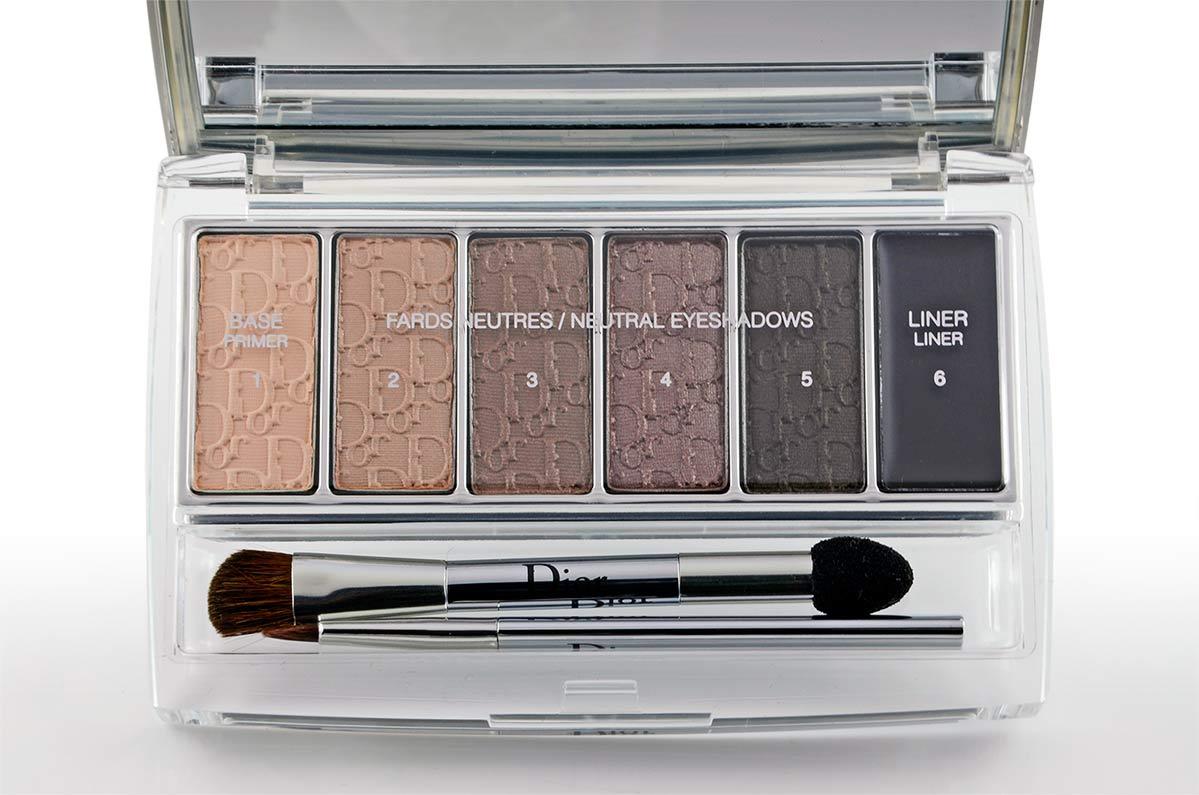 Die Dior Eye Reviver Palette mit unterschiedlichen natürlichen Lidschattenfarben