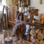 Eine historische Wagnerei/Schreinerei aus vor-industrieller Zeit aus Oberbayern
