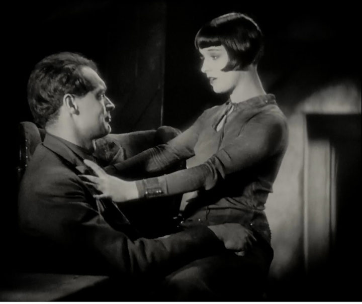 """Louise Brooks alias Lulu mit Alwa im Film """"Die Büchse der Pandora"""""""